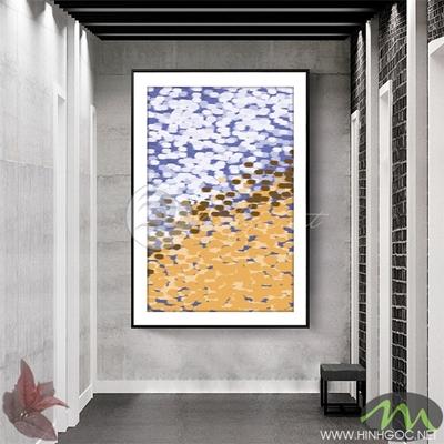 Tranh trừu tượng vàng trắng - NEN89
