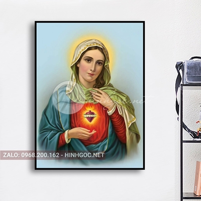 Tranh công giáo, ảnh đức mẹ Maria đẹp mân côi-NTS-102