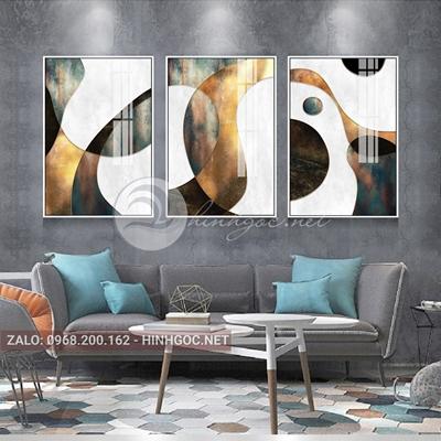 Tranh trừu tượng, sắc màu hình line art-NTS-199