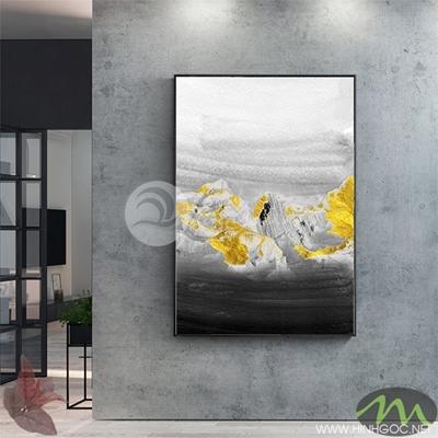 Tranh trừu tượng vàng đen - PEN33