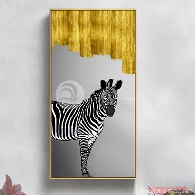 Tranh ngựa vằn và màu vàng - PEN76