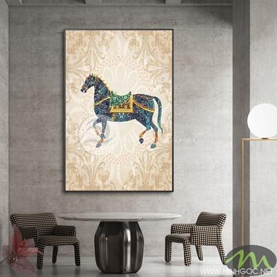 Tranh ngựa họa tiết - PEN93