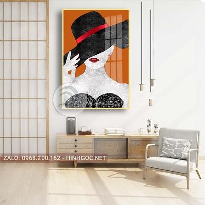 Tranh thời trang, chân dung cô gái hiện đại-PLT-S-1450