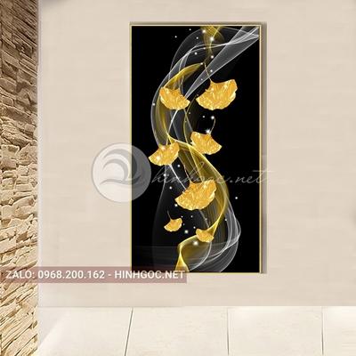 Tranh treo tường, dải vân và lá vàng nghệ thuật-PLT-S-1641