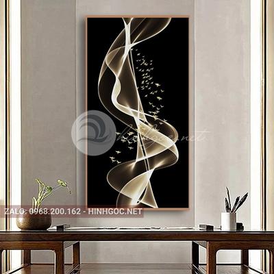 Tranh treo tường, dải vân, đàn chim vàng nghệ thuật-PLT-S-1644