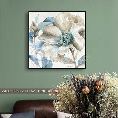 Tranh trang trí, bông hoa đang nở-QART-101