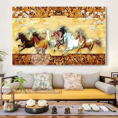 Tranh mã đáo thành công, ngựa phi đẹp-QART-149