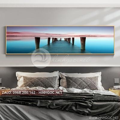 Tranh treo tường, cây cầu trên biển-QDS-111
