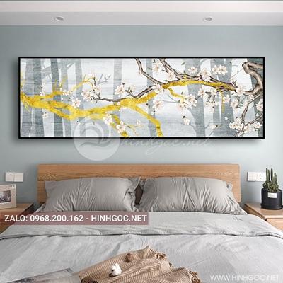 Tranh treo tường, cành hoa nở sắc xuân-QDS-120