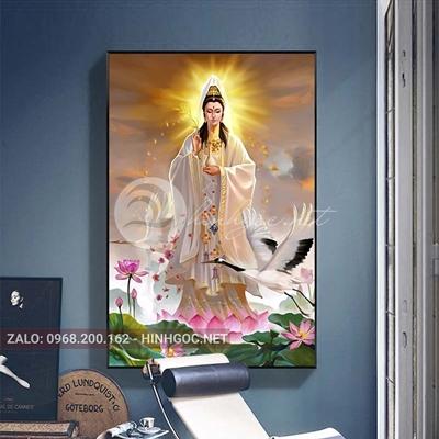 Tranh treo tường, tranh Quan Âm Bồ Tát-QDS-235