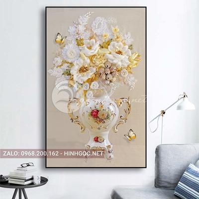 Tranh treo tường, bình hoa trang trí đẹp -QDS-242
