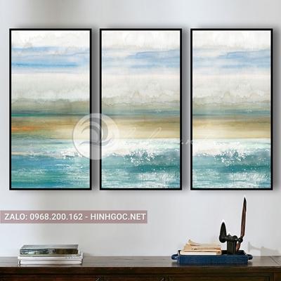 Tranh treo tường, bộ 3 bức tranh phong cảnh biển đẹp -QDS-244
