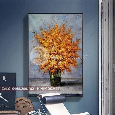 Tranh treo tường, tranh bình hoa nở-QDS-276