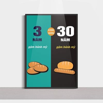 Tranh trang trí quán bán hàng, gặm bánh mỳ-SLG271
