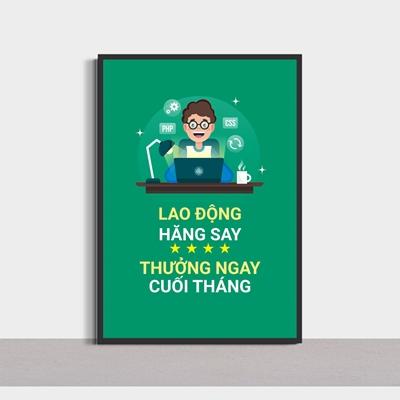 Slogan văn phòng, lao động hăng say-SLG33