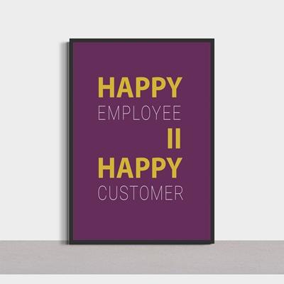 Tranh động lực  chữ Happy-SLG94