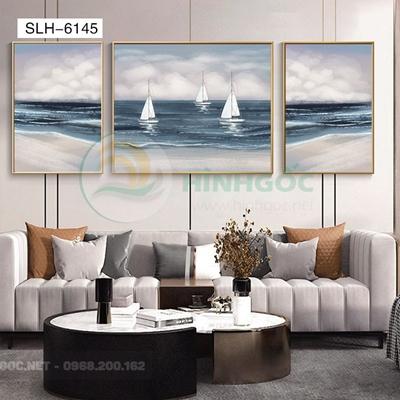 Tranh bộ 3 bức, tranh thuận buồm xuôi gió-SLH-6145