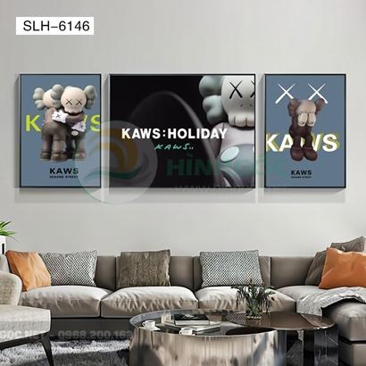 Tranh bộ 3 bức, tranh con robot biết cảm xúc-SLH-6146