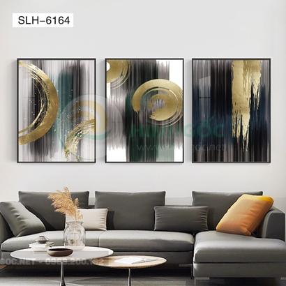 Tranh bộ 3 bức, tranh trừu tượng sắc màu đặc biệt-SLH-6164