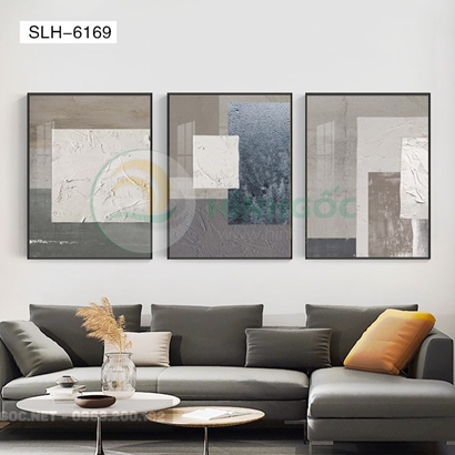 Tranh bộ 3 bức, tranh trừu tượng-SLH-6169