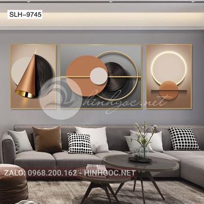 Tranh bộ 3 bức, tranh hình line art nghệ thuật-slh-9745