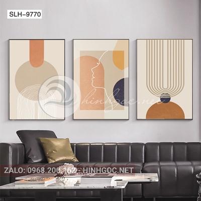 Tranh bộ 3 bức, tranh hình line art-slh-9770