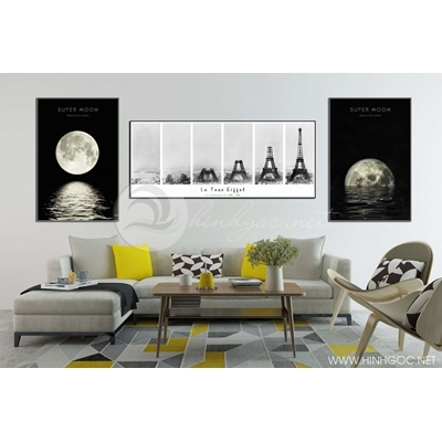 Tranh bộ ánh trăng và tháp eiffel TB3-111