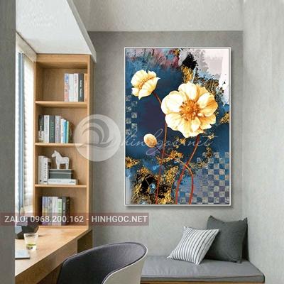 Tranh hoa lá, bông hoa nở đẹp-THC-164
