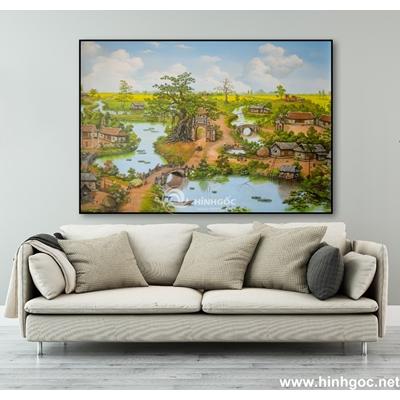 Tranh sơn dầu làng quê Việt Nam - TLQ-127