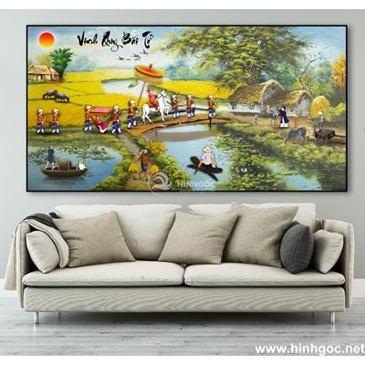 Tranh sơn dầu làng quê Việt Nam - TLQ-90