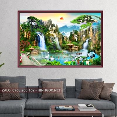 Tranh sơn thủy hữu tình, tranh treo tường-VBB-151