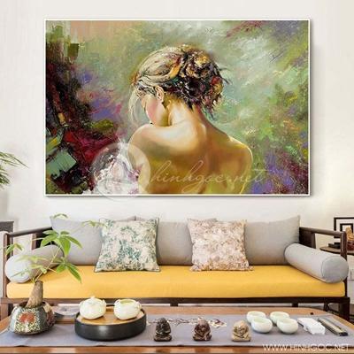 Tranh treo tường tranh chân dung cô gái-VBB-48