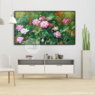 Tranh treo tường hoa sen hồng-VBB-72