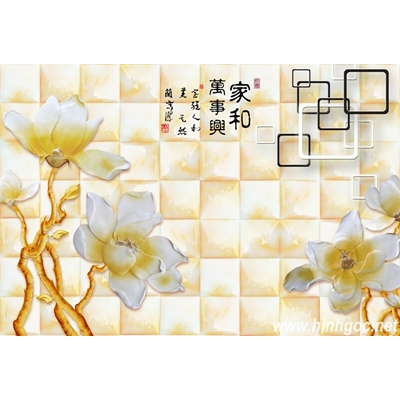 File tranh dán tường 3D khổ lớn - X6-154