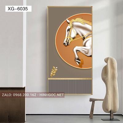 Tranh con ngựa phi ấn tượng-XG-6035