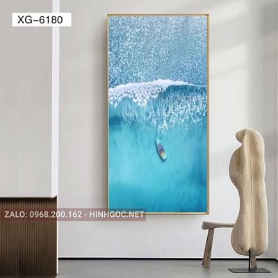 Tranh phong cảnh biển, du lịch biển với ca nô-XG-6180
