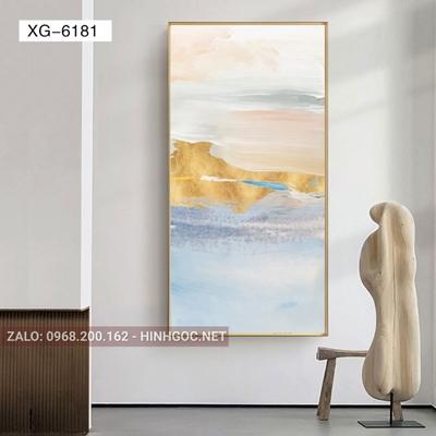 Tranh phong cảnh biển, bãi biển trên cát-XG-6181