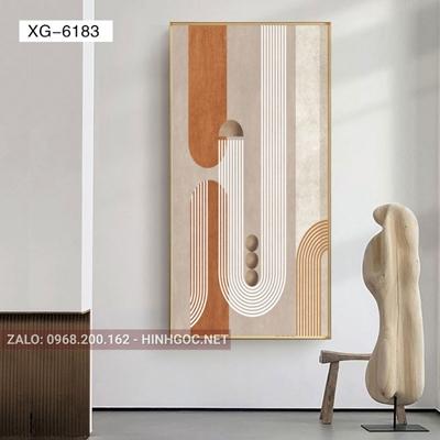 Tranh trừu tượng, nghệ thuật hình line art-XG-6183