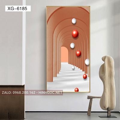 Tranh trừu tượng, nghệ thuật kiến trúc hình line art-XG-6185