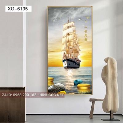 Tranh thuận buồm xuôi gió phát tài lộc-XG-6195