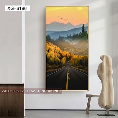 Tranh phong cảnh con đường tương lai phía trước-XG-6196