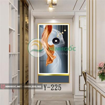 Tranh trừu tượng hình line, dải vân nghệ thuật-Y-225