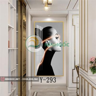 Tranh chân dung cô gái mặc trang phục đẹp-Y-293