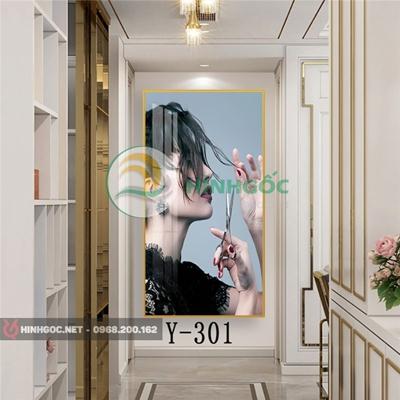 Tranh chân dung cô gái cắt tóc-Y-301