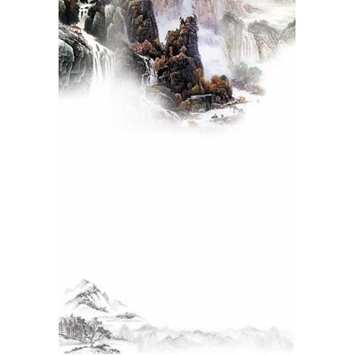 Mẫu poster sơn thủy thiết kế -  YTK-01
