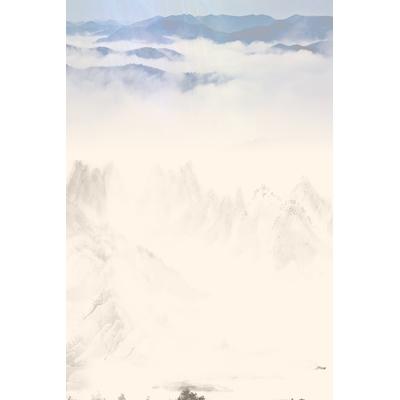 Mãu poster dãy núi thiết kế -  YTK-02