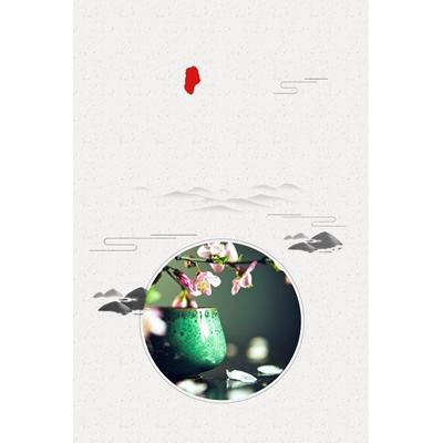 Mãu poster hoa đào - YTK-05
