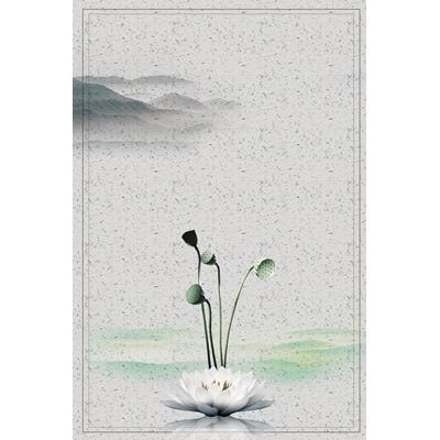Mẫu poster hoa sen trắng nở - YTK-100