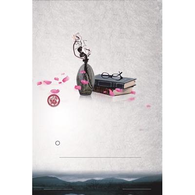 Mẫu poster sách và bình hoa - YTK-95