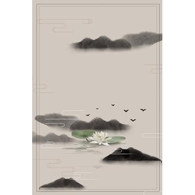 Mẫu poster sen trắng - YTK-97